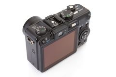Black digital compact camera Stock Image