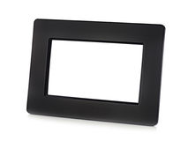 Black digital LCD photo frame with place for your photo. Black digital LCD photo frame with place for your photo isolated on white background royalty free stock images