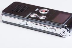 Black digital mp3 voice recorder dictaphone Stock Photos
