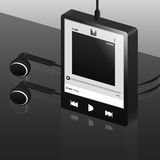 Black digital music player Stock Photo