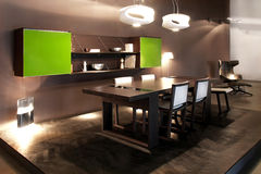 Black dining room Stock Photography