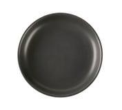 Black dinner plate Royalty Free Stock Photo