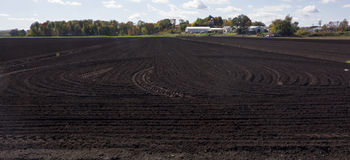 Black Dirt Farmland Royalty Free Stock Image