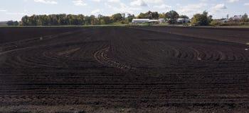Black Dirt Farmland Royalty Free Stock Image