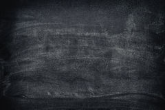 Black dirty chalkboard background Stock Images