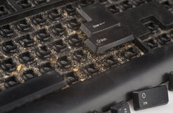Black dirty keyboard Royalty Free Stock Photos