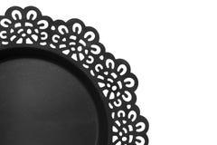 Black dish isolated Royalty Free Stock Photography