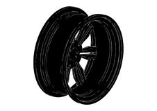 Black disk wheel Royalty Free Stock Photo