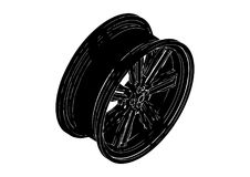 Black disk wheel Royalty Free Stock Photography