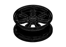 Black disk wheel Royalty Free Stock Images