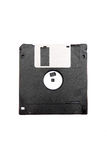 Black diskette. Royalty Free Stock Images