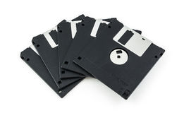 Black diskette isolated Royalty Free Stock Images