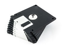 Black diskette isolated Stock Photos
