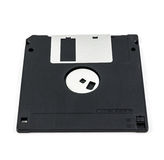 Black diskette isolated Stock Image