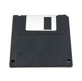 Black diskette isolated Stock Photography