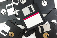 Black diskette isolated Stock Photo
