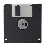 Black Diskette isolated on white blackground Royalty Free Stock Image