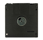 Black diskette on white background Stock Photo