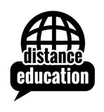 Black distance education Stock Photo