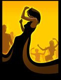 Black diva dancing Stock Images