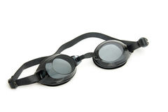 Black dive goggles Stock Images