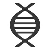 Black dna isolated icon on white Stock Image