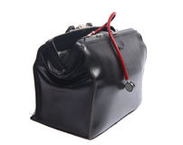 Black doctor's bag Royalty Free Stock Images