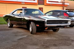 Black Dodge Charger 400 RT 1970 Royalty Free Stock Image