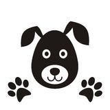 Black dog head Stock Photos
