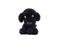 Black dog knitting doll Royalty Free Stock Photography
