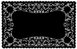 black doily eps lace mat place 库存图片