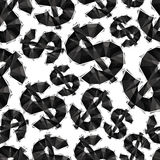 Black dollar signs seamless pattern, geometric contemporary styl Stock Image