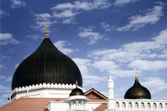 Black domes of a traditional mosque, malaysia Royalty Free Stock Images