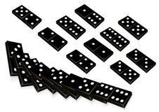 Black domino. Illustration, AI file included Royalty Free Stock Photos