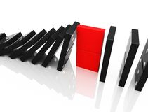 Black domino Stock Images