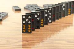Black domino Stock Images