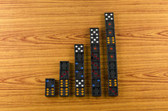 Black domino Stock Photography