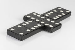 Black Domino bricks Royalty Free Stock Photos