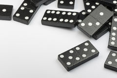 Black Domino bricks Stock Photography