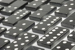 Black Domino bricks Royalty Free Stock Photos