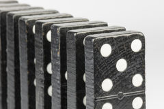 Black Domino bricks Royalty Free Stock Image