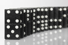 Black Domino bricks Stock Images