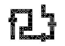 Black domino pattern background Royalty Free Stock Image