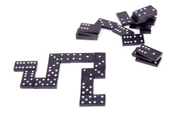 Black domino stones Stock Image