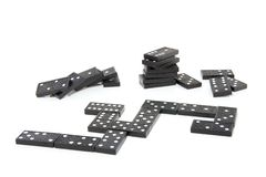 Black domino stones Royalty Free Stock Images