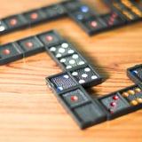 Black domino Royalty Free Stock Image