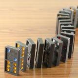 Black domino Stock Image