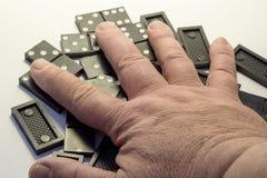 Black dominoes Stock Photos