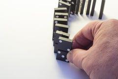 Black dominoes Stock Photography