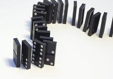 Black dominoes Stock Image